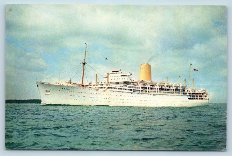 Postcard P&O Orient Lines Iberia Steam Ship J Arthur Dixon V1