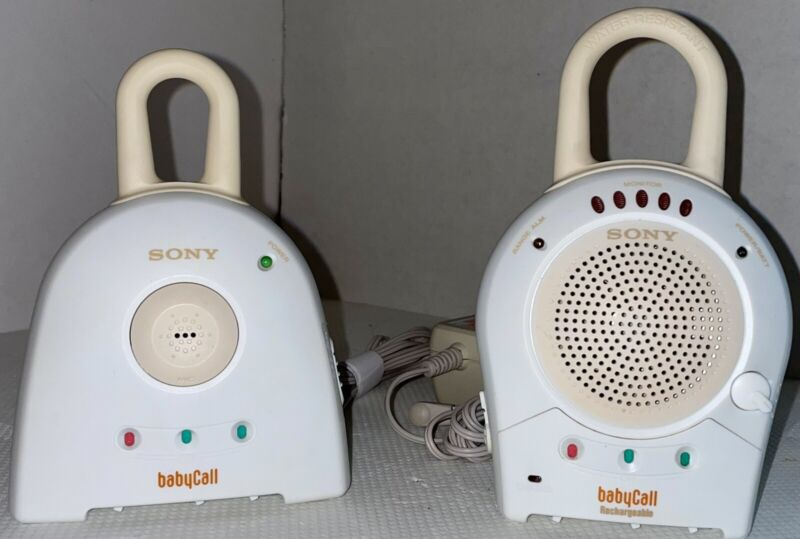 """SONY """"BABY CALL"""" - NTM-910 NURSERY RECHARGEABLE MONITOR W/TRANSMITTER"""
