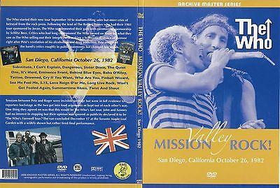 The WHO Mission Valley Rock San Diego, CA 10/26/1982 Original Factory DVD Digi
