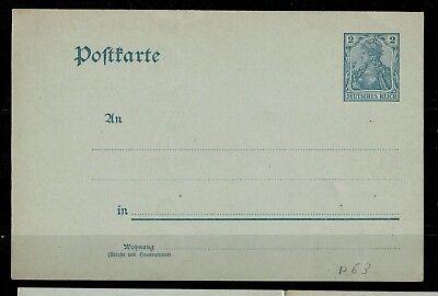 Deutsches Reich Postkarte P 63 x ungebraucht -int.Nr.115