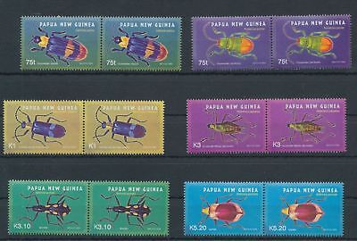 PAPUA NEW GUINEA PNG 2005 Insects Beetles MNH SET IN PAIRS (PAP64)