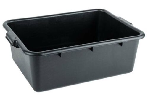 "(6/Pack) Black Polyethylene Bus Plastic Restaurant Dishwasher Tub Box 20""x15""x7"""