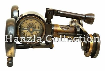 Vintage Brass Antique style Binocular Marine Compass Nautical Telescope Gift