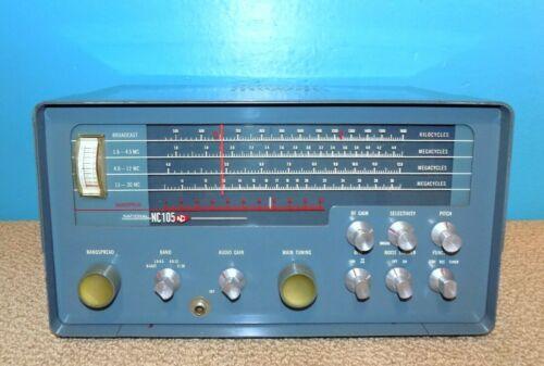 National Radio Co. NC-105 Ham Radio Receiver 1.6-30MHz + Broadcast Free Shipping