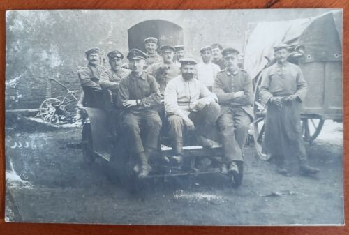 WW1 Group of German Soldiers At The Front Postcard - Original