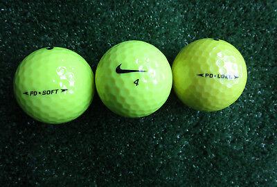 25 gelbe Nike Golfbälle AAAA / AAA