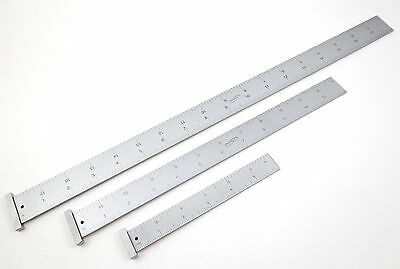 3 Pc Igaging Machinist 4r Hook Ruler Rule 18 12 6 18 116 132 164