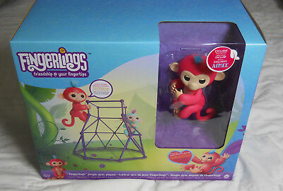 Fingerlings Jungle Gym Playset   Interactive Baby Monkey Aimee Coral Pink