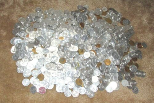 MASSIVE LOT OF 843 SHELL MR. PRESIDENT COIN GAME TOKENS SUNOCO 1968 GAS OIL