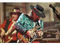STEVIE RAY VAUGHAN PORTRAIT IN STRIPED SHIRT AND HAT 8X10 PHOTO