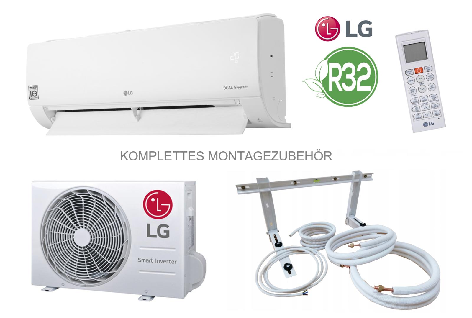 Split Klimaanlage LG Standard S12EQ 3,5 kW 12000 BTU + 3 Meter Montageset