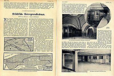 Städische Untergrundbahnen Orig.Bild-Report mit historischen Aufnahmen von 1904