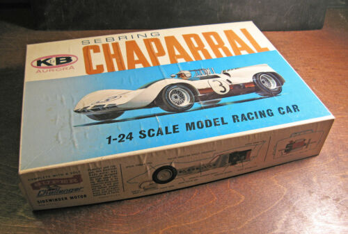 Aurora Sebring Chaparral Vintage 1/24 scale slot car with box and acc Excellent!