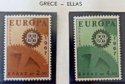 2 X Timbre Stamp Grèce Ellas Greece 1967 YT 926 927 EUROPA CEPT Neufs