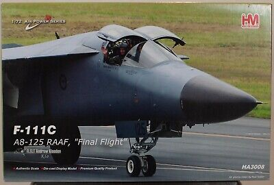 Hobby Master 1:72 Air Power Series F-111C A8-125 RAAF Final Flight HA3008