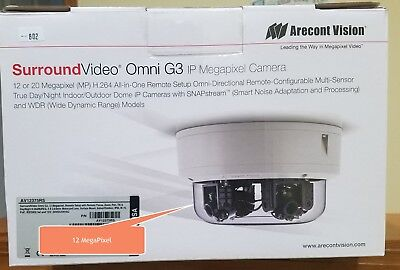 Arecont Vision Surroundvideo Omni Av12375rs 12mp Poe Network Camera- Color