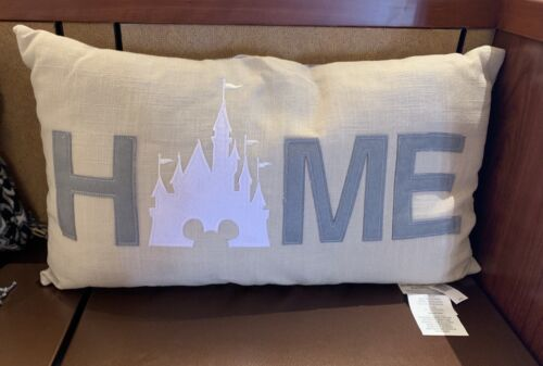 "Disney Parks ""Home"" Castle Throw Pillow NWT"