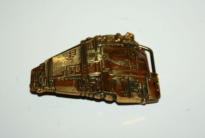 Rare 1980 Diesel Engine Train New NOS Baron Brass Belt Buckle