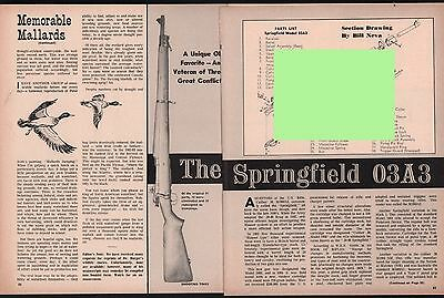 1964 SPRINGFIELD 03A3 Rifle 2-pg Article w/Exploded View & Parts List for sale  Shipping to Canada