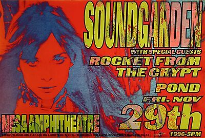 Soundgarden 1996 Mesa, Arizona Gig Poster by Frank Kozik 9654 S/N