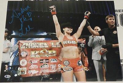 Andrea KGB Lee Signed 16x20 Photo BAS Beckett COA UFC LFA Invicta FC Autograph 6