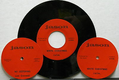 "R.E.F.M. (PATTI SMITH) White Christmas 1978 Private 7"" LENNY KAYE 45 Rundgren"