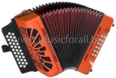 Hohner Compadre Orange MAKE OFFER Fa FBE Accordion Acordeon NEW AuthorizedDealer
