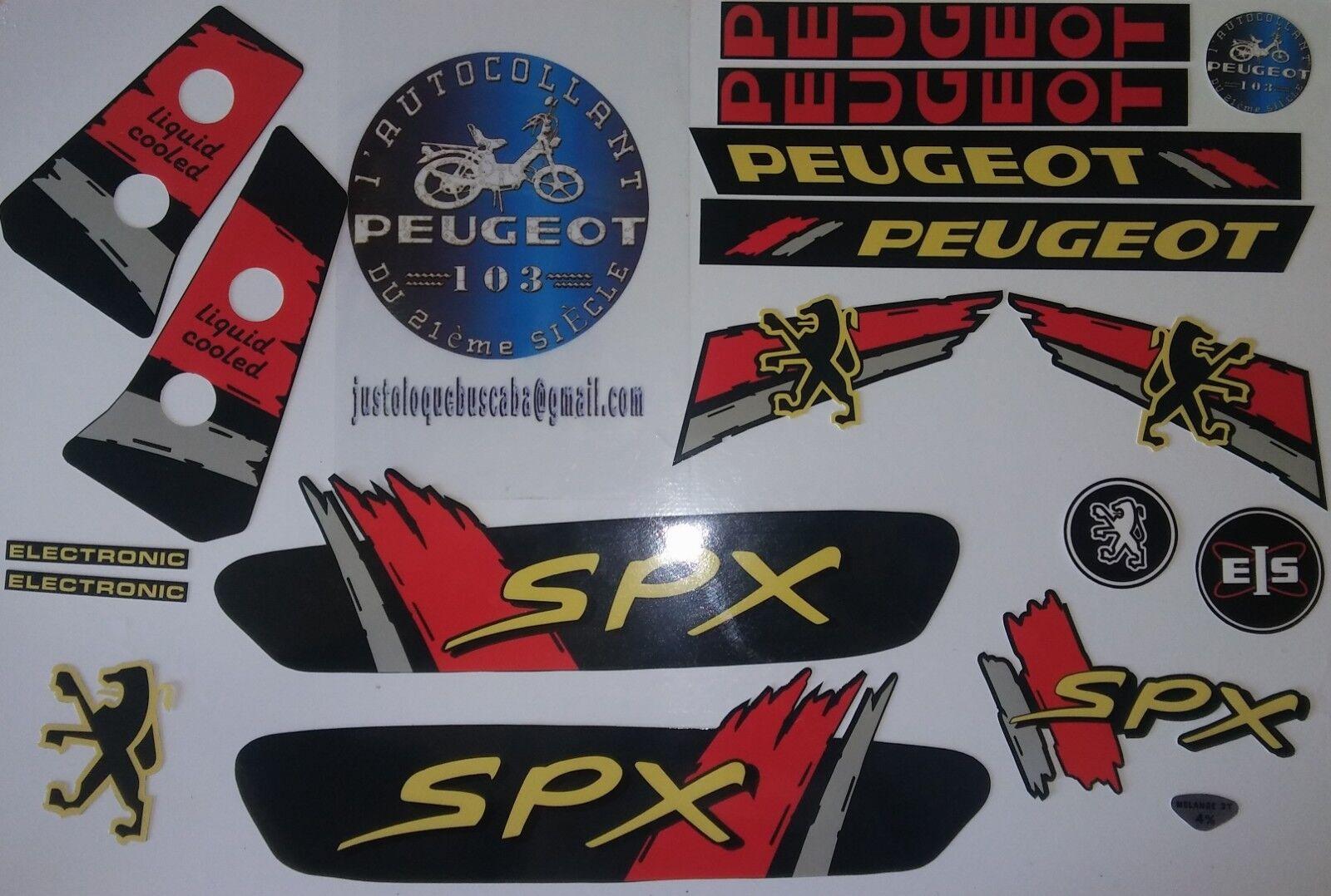 Autocollant stickers Peugeot 103 SPX PH3 Vert foncé liquid