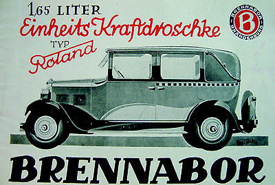 Blechschild 20 x 30 cm, Brennabor, Auto