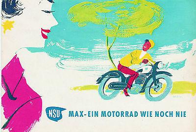 Blechschild 20 x 30 cm, NSU, Motorrad, Nostalgie