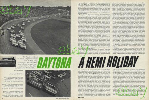 1966 Daytona 500 426 Street Hemi Vintage Magazine Article Ad Plymouth Dodge 66