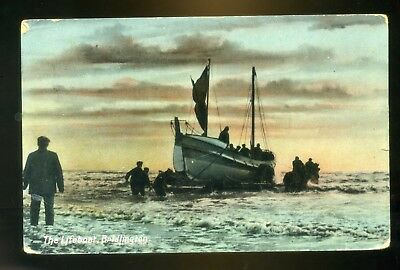 BRIDLINGTON   The Lifeboat  with people and horses   coloured