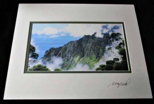 "Hawaii SIGNED GARY REED ART PRINT Kalalau Lookout Matted 11"" x 14"""