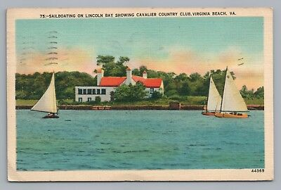 Lincoln Bay Sailboats—Virginia Beach—Cavalier Country Club—Sailing Rare Linen 47