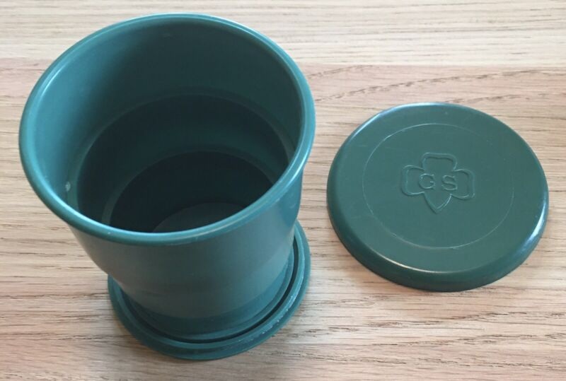 Vintage Girl Scouts Collapsible Cup, 1970's Wecolite Co N.Y.