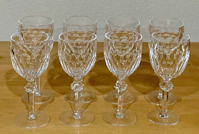 "8 WATERFORD CURRAGHMORE WATER GOBLETS 7 5/8""    Pristine"
