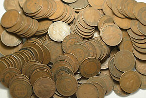 2 Kilos Bulk Lot Australian Pennies George V 1911-1936 ONLY