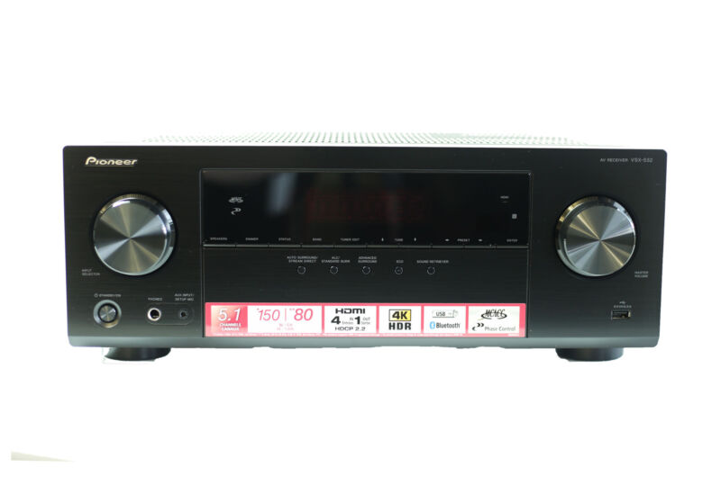 Pioneer VSX-532 5.1 Channel A/V Receiver with Bluetooth, 4 HDMI & 1 USB Ports