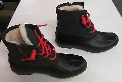 J Crew Women's Sperry Shear water Flannel Boots Item E2599 Sz 8M FREE SHIPPING