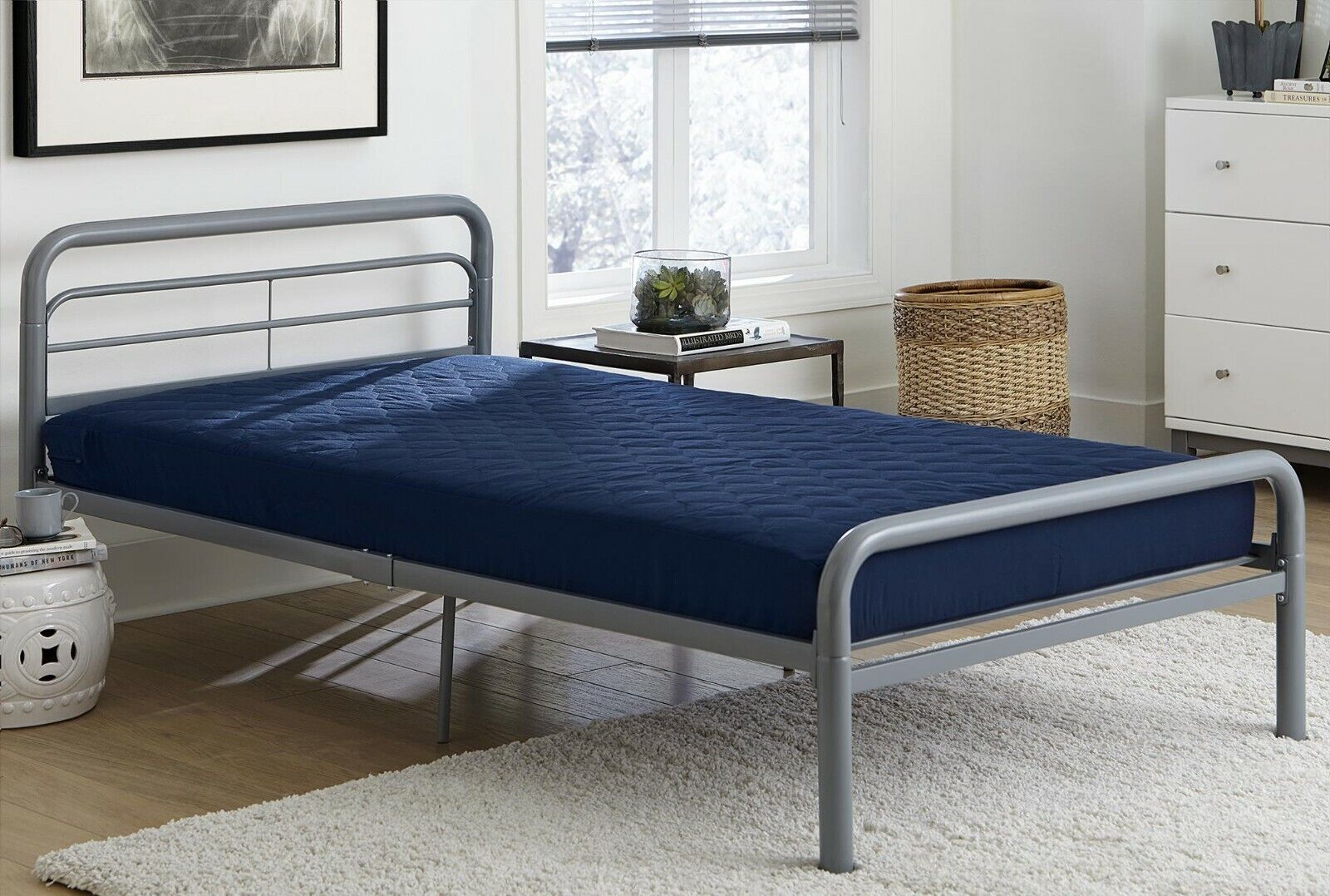 """Twin Size Quilted Covered Mattress 6"""" Bunk Bed Full Bedroom"""