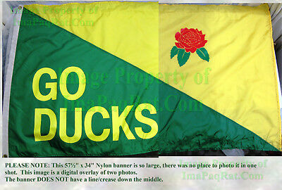 Vintage 1995 Oregon Ducks Rose Bowl Banner Huge 57