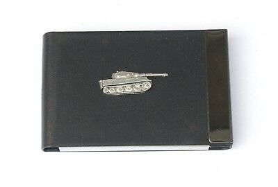 Panzer Tank Black Pu And Metal Business Or Credit Card Holder Gift 260