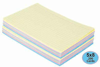 1intheoffice Index Cards 5 X 8 Ruled Colored Assorted 200pack