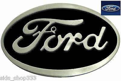 Ford Belt Buckle , Black Enamel Fill Pewter Finish US Seller f 150 mustang truck