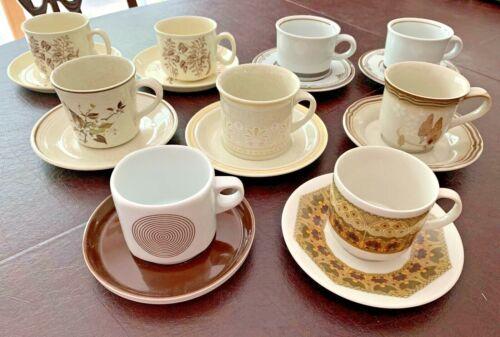 Vintage Tea Cups & Saucers J&G Meakin/Mikasa/Rosenthal/Royal Doulton/Noritake