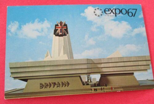 Great Britain Pavilion Expo 67 Montreal Canada - Unused Postcard