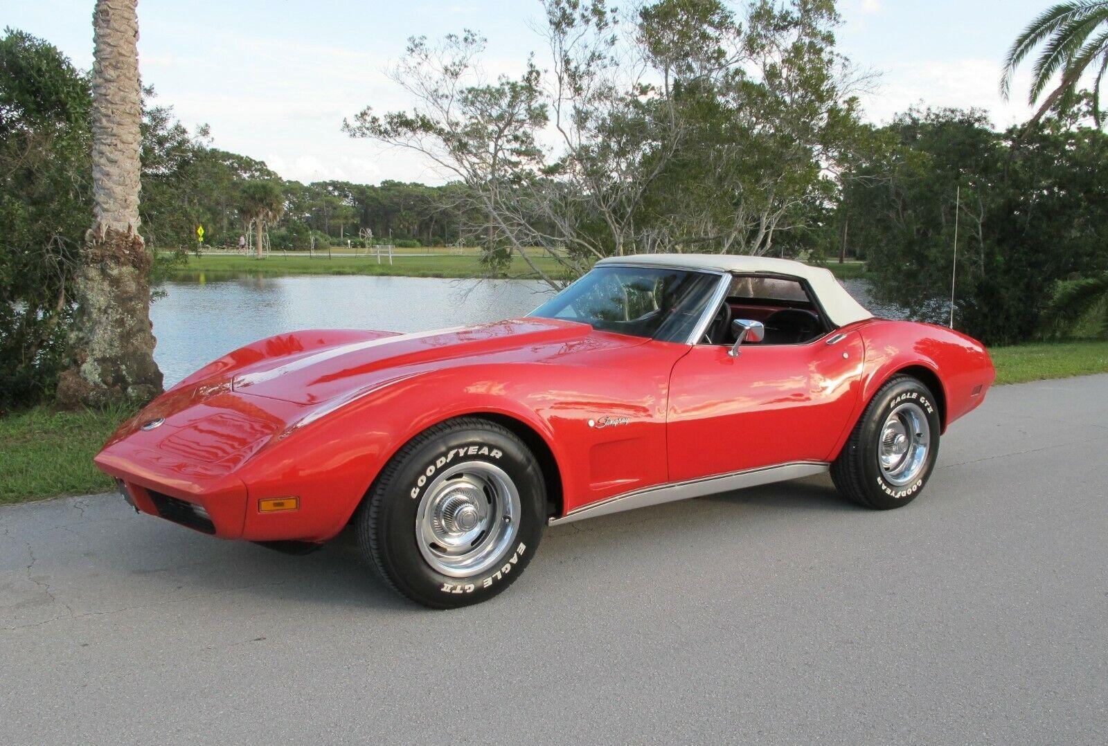 1974 Red Chevrolet Corvette   | C3 Corvette Photo 1