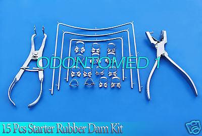 Starter Rubber Dam Kit Of 15 Pcs Dental Surgical Instruments