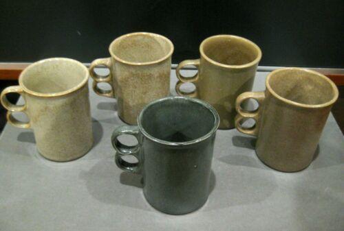 Set of (5) David Gil Cooperative Design Bennington Art Pottery Trigger Mugs