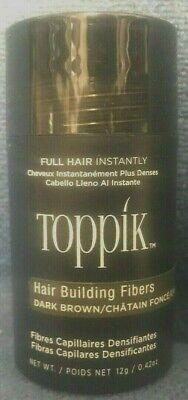 DARK BROWN TOPPIK Hair Loss Building Fiber 12g  FAST, FREE SHIPPING